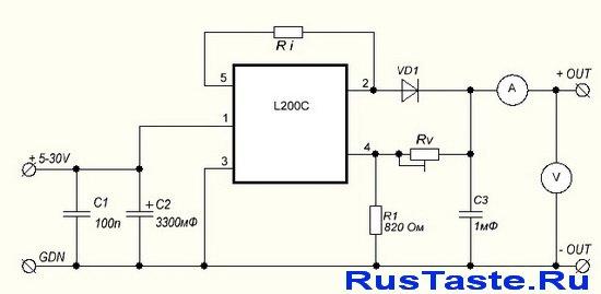 Схема зарядного устройства гелевых аккумуляторов