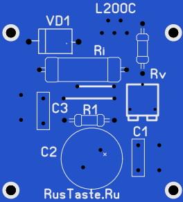 Печатная плата зарядного устройства гелевых аккумуляторов