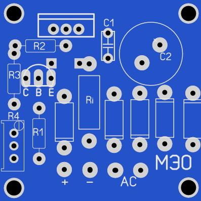Вот печатная плата зарядного устройства на LM317
