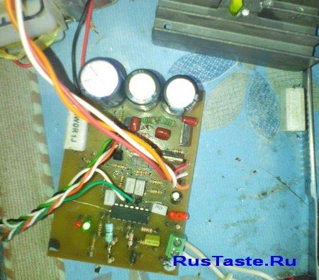 Фото работы индикатора зарядки без нагрузки