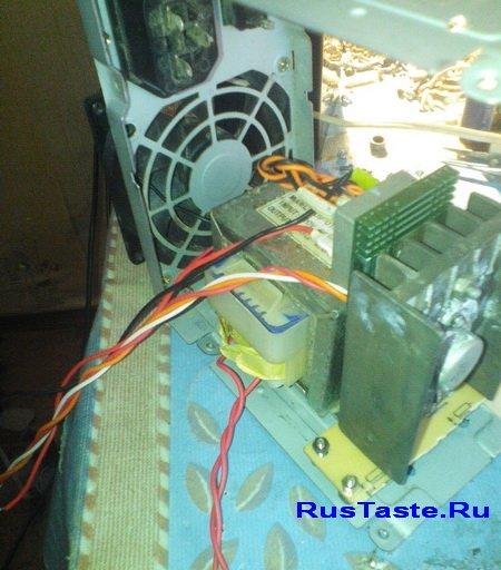 Зарядное устройство из внутри