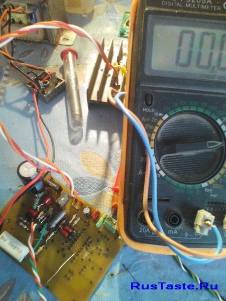 Проверяю делитель и транзисторный каскад