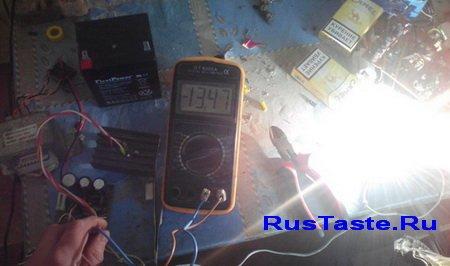 Тестирую зарядное устройство под нагрузкой