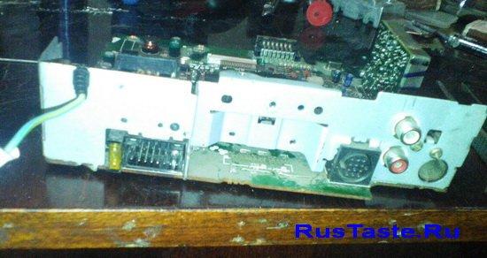 Снимаю старую микросхему TDA7650