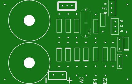 Печатная плата для зарядного устройства с 2-мя симметричными обмотками трансформатора