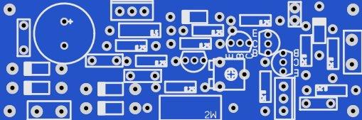 Печатная плата зарядного устройства на LM317,  усиленное транзистором с защитой от КЗ и переполюсовки