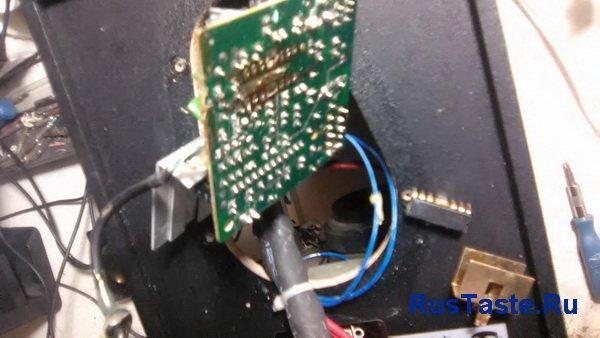Подготовил контакты под установку новой микросхемы CD8227GP