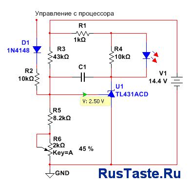 Схема обвязки оптопары и TL431