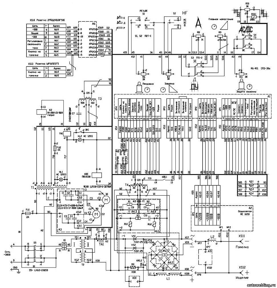 Сварка УДГУ 351 схема силовой части