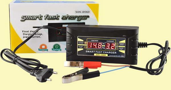 Полностью автоматическое зарядное устройство 6-12В 6А для мото и авто АКБ