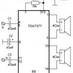 Усилитель на TDA7377 2x30Вт
