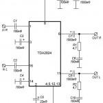 Усилитель TDA2824, TDA2824S 2Вт(1.8Вт 4Ом)