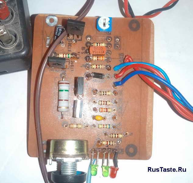 Зарядное для автомобильного аккумулятора. Плата крупным планом