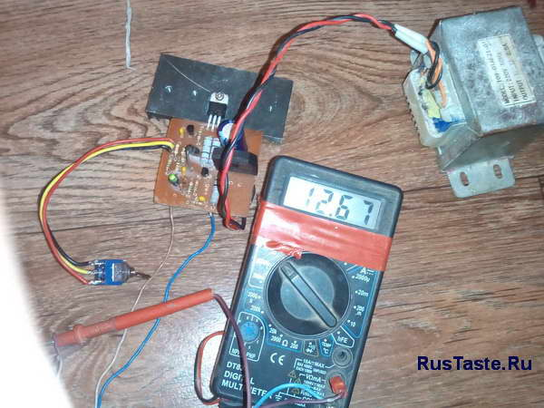 Зарядное для мото аккумулятора 12,6В