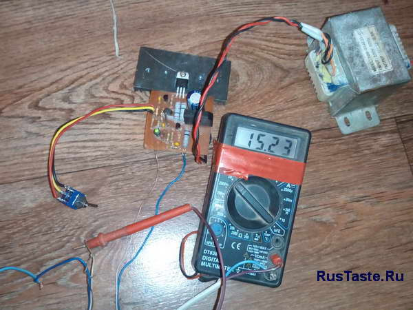 Зарядное для мото аккумулятора 15,2В