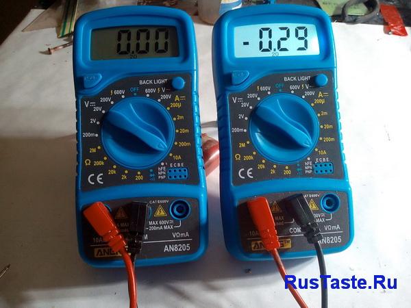 Замер тока на пределе 10А