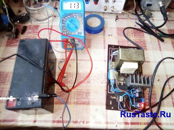 Пробная зарядка GEL аккумулятора
