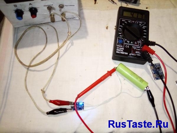 Модуль TP4056 напряжение окончания зарядки