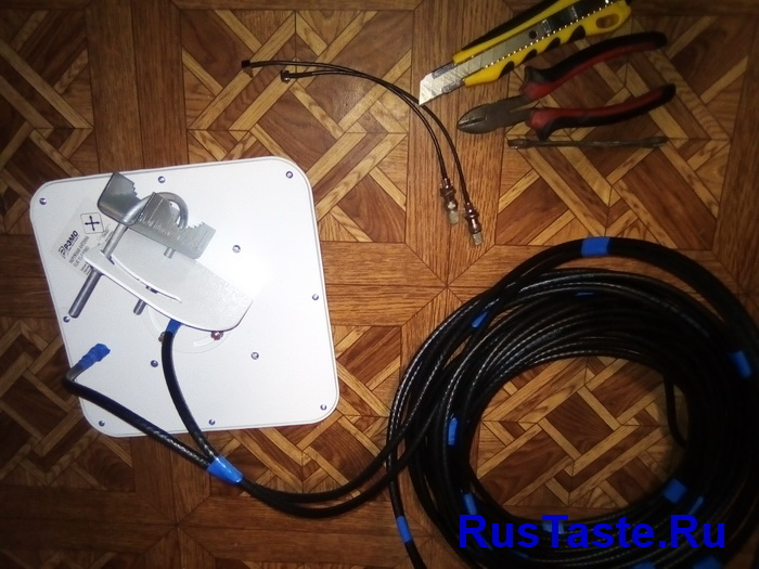 Подготовка антенны к монтажу