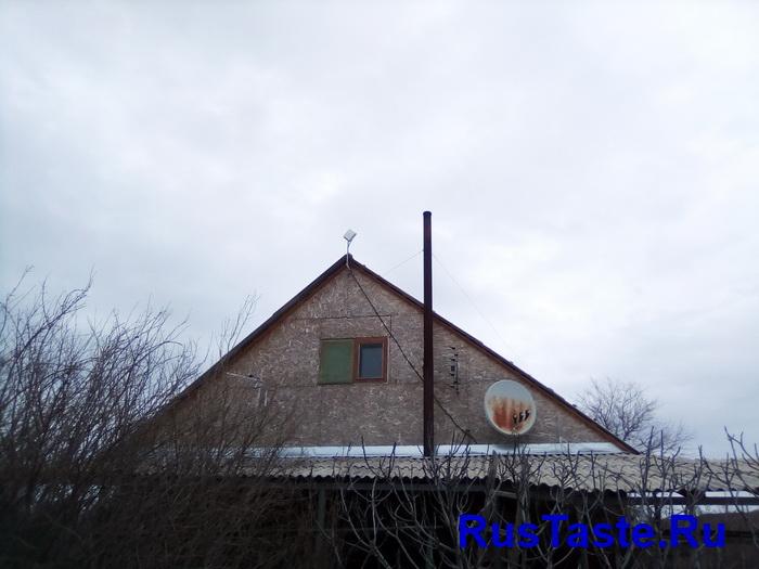 Монтаж антенны на фронтоне
