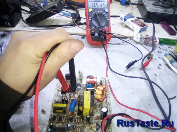 Проверка силового транзистора