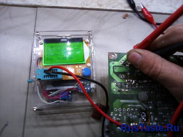 Проверка конденсатора не снимая с платы
