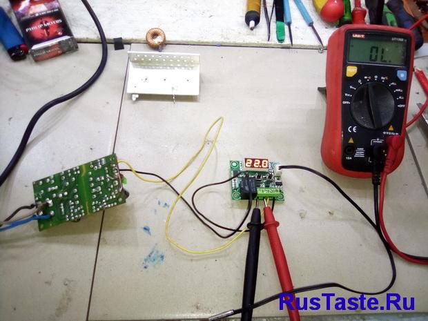 Первое включение терморегулятора