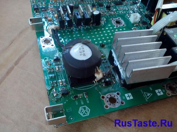 Замена резисторов и проверка диодов на драйвере