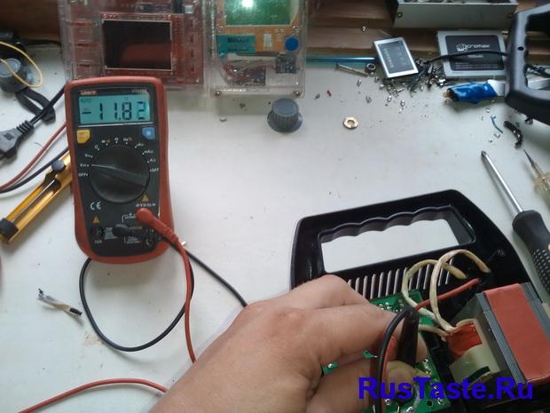 Зарядка ЗУ-15860. Напряжение после диодного моста