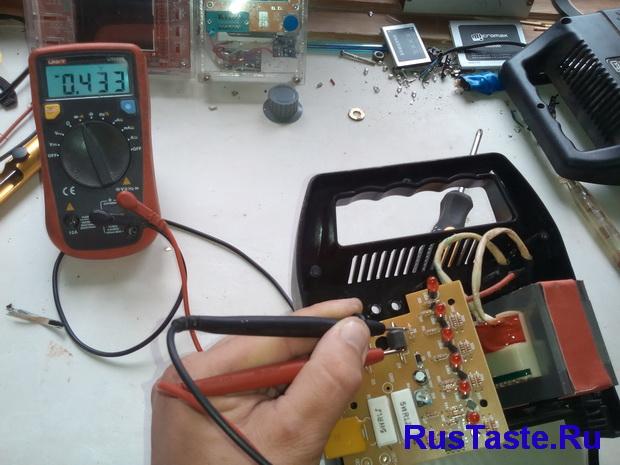 Зарядка ЗУ-15860. Проверка диодного моста