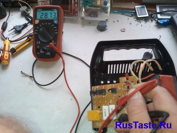 Зарядка ЗУ-15860. Проверка балластного сопротивления