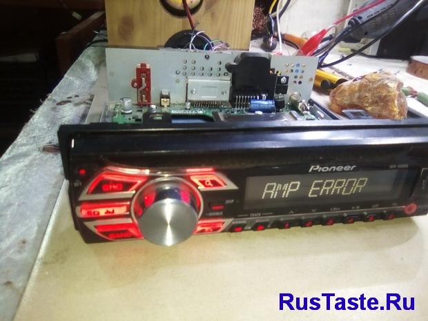 Ремонт автомагнитолы Pioneer DEH-1500UB Замена усилителя PAL011A на TDA7388