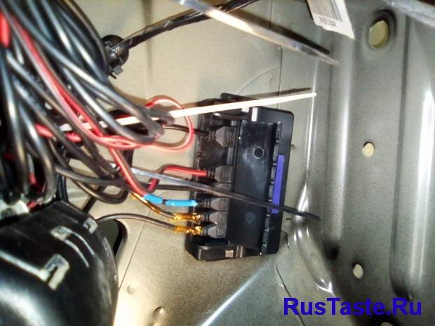 Установка блока управления в багажнике