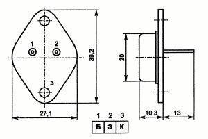 Цоколевка транзистора КТ827А
