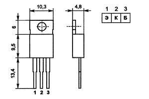 Цоколевка транзистора КТ837Ф