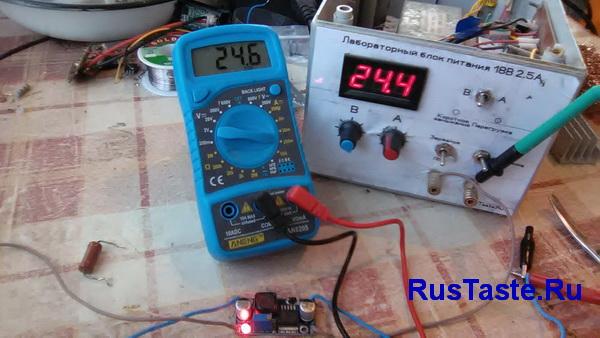 Преобразователь LM2596 ток холостого хода