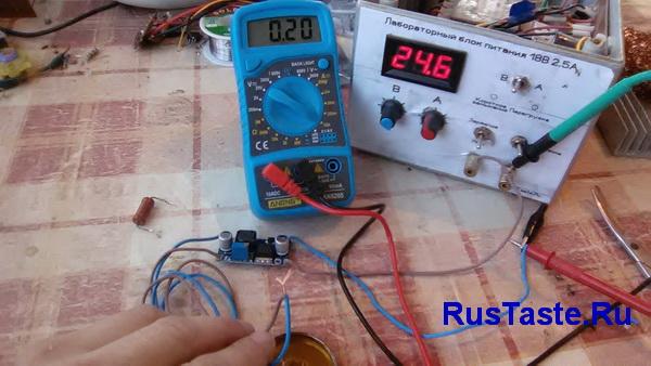 Преобразователь LM2596 ток короткого замыкания
