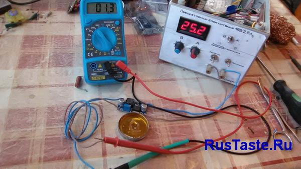 Преобразователь LM2596 минимальное выходное напряжение