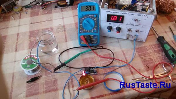 Тест LM2596 на нагрузке 3А