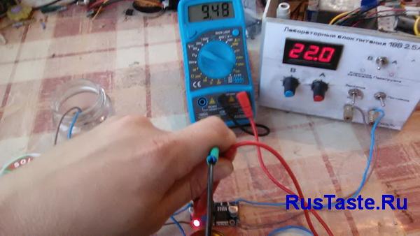 Нагрузка модуля LM2596 3А