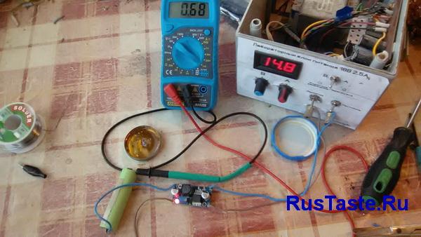 Зарядка батареи модуль LM2596