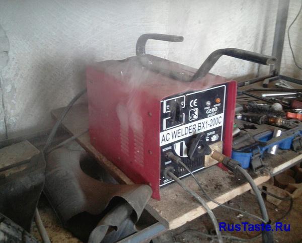 Сгоревший аргонодуговой аппарат