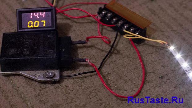 Проверка реле регулятора при 14,4В