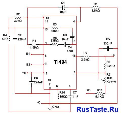 Управляющая часть схемы на TL494